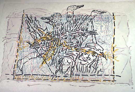 _ARCH_ Dans la cache by Jean Paul Riopelle, R.C.A. - Galerie Lamoureux Ritzenhoff