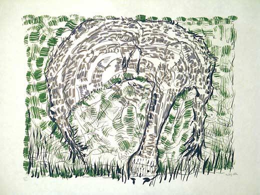 _ARCH_ Dans les joncs by Jean Paul Riopelle, R.C.A. - Galerie Lamoureux Ritzenhoff