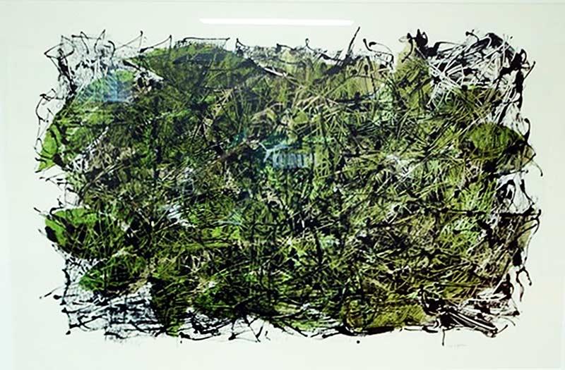 _ARCH_ Feuilles IV, 1967 by Jean Paul Riopelle, R.C.A. - Galerie Lamoureux Ritzenhoff