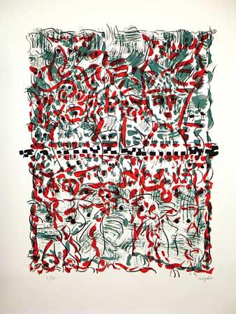 _ARCH_ Gros Becs by Jean Paul Riopelle, R.C.A. - Galerie Lamoureux Ritzenhoff