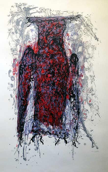 _ARCH_ Hibou II by Jean Paul Riopelle, R.C.A. - Galerie Lamoureux Ritzenhoff
