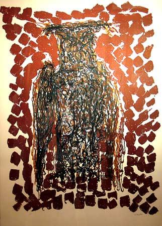 _ARCH_ Hibou III by Jean Paul Riopelle, R.C.A. - Galerie Lamoureux Ritzenhoff