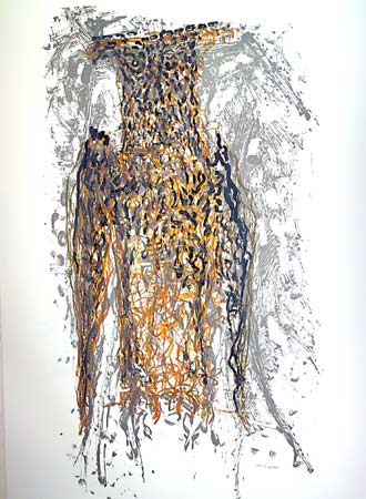 _ARCH_ Hibou IV by Jean Paul Riopelle, R.C.A. - Galerie Lamoureux Ritzenhoff