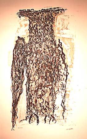 _ARCH_ Affiche avant la lettre no. 120 - Owl by Jean Paul Riopelle, R.C.A. - Galerie Lamoureux Ritzenhoff