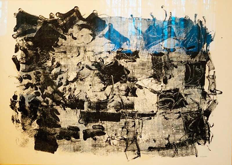 _ARCH_ Jute I, 1967 by Jean Paul Riopelle, R.C.A. - Galerie Lamoureux Ritzenhoff