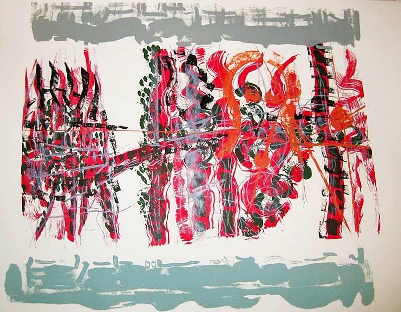 _ARCH_ Le Couchant, 1979 by Jean Paul Riopelle, R.C.A. - Galerie Lamoureux Ritzenhoff