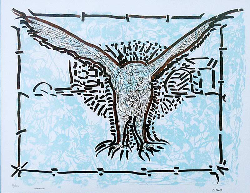 _ARCH_ L'Épervier -Harfang des neiges 1981 by Jean Paul Riopelle, R.C.A. - Galerie Lamoureux Ritzenhoff