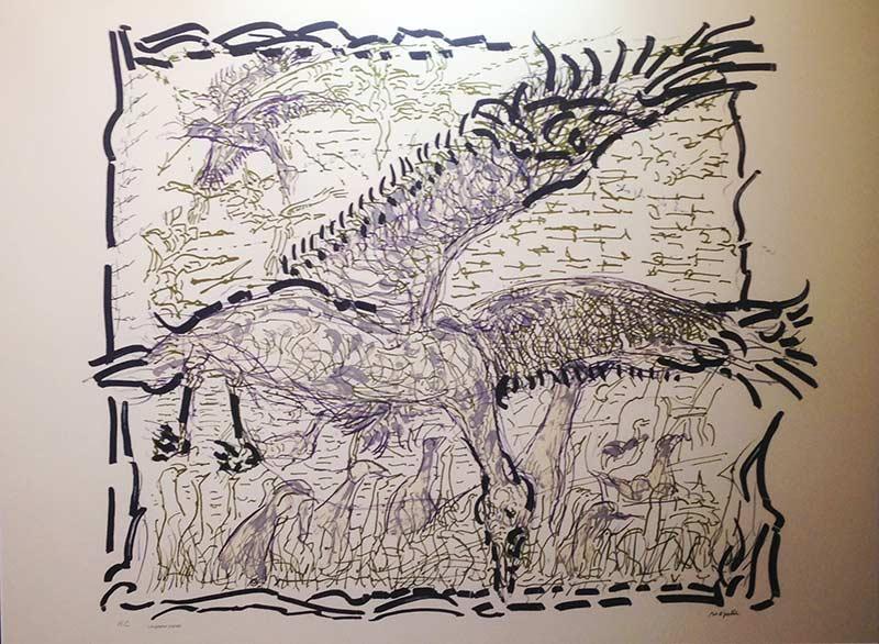 _ARCH_ Les Oies I by Jean Paul Riopelle, R.C.A. - Galerie Lamoureux Ritzenhoff