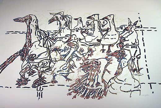 _ARCH_ Les Oiseaux by Jean Paul Riopelle, R.C.A. - Galerie Lamoureux Ritzenhoff