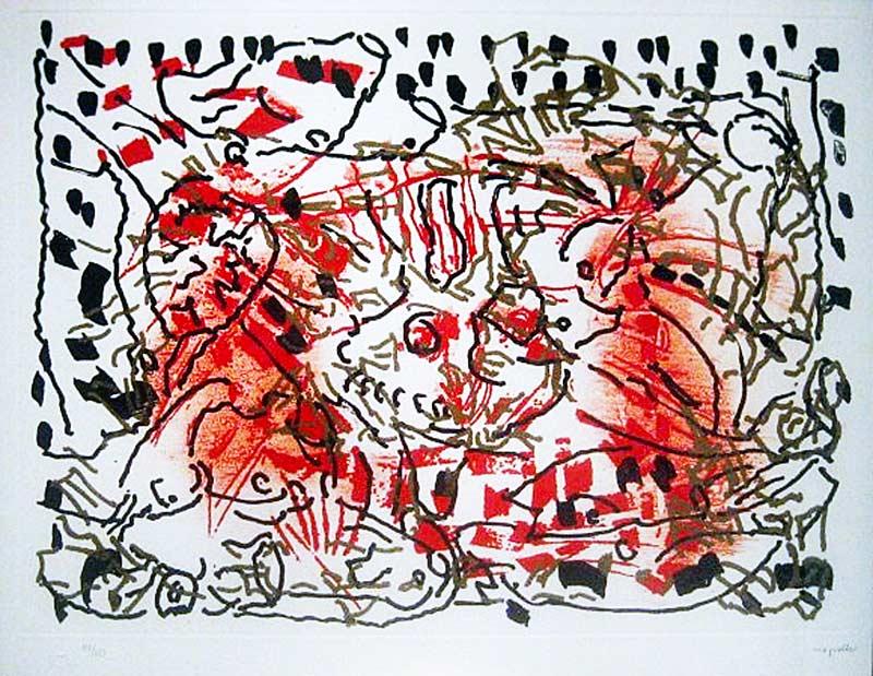 _ARCH_ L'Oie de feu - L'Oie au soleil, 1990 by Jean Paul Riopelle, R.C.A. - Galerie Lamoureux Ritzenhoff