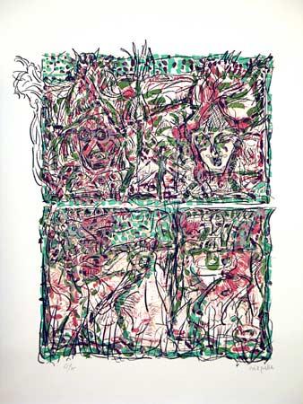 _ARCH_ Masques d�hiver by Jean Paul Riopelle, R.C.A. - Galerie Lamoureux Ritzenhoff