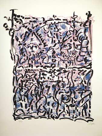_ARCH_ Masques et Oiseaux by Jean Paul Riopelle, R.C.A. - Galerie Lamoureux Ritzenhoff