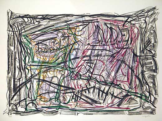 _ARCH_ Par la fen�tre by Jean Paul Riopelle, R.C.A. - Galerie Lamoureux Ritzenhoff