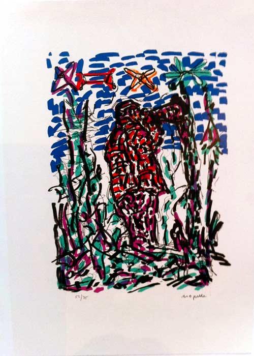_ARCH_ Parler de corde, Le Call, 1972 by Jean Paul Riopelle, R.C.A. - Galerie Lamoureux Ritzenhoff