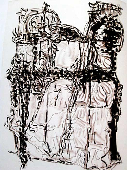 _ARCH_ Suite Poursuite de Famille, 1972 by Jean Paul Riopelle, R.C.A. - Galerie Lamoureux Ritzenhoff