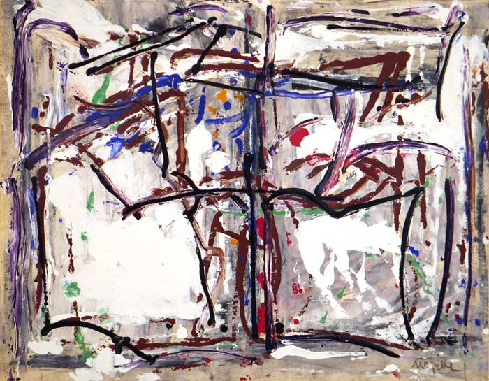_ARCH_ Untitled (Sainte-Marguerite series; green, red, blue and brown composition), circa 1975-1979 by Jean Paul Riopelle, R.C.A. - Galerie Lamoureux Ritzenhoff