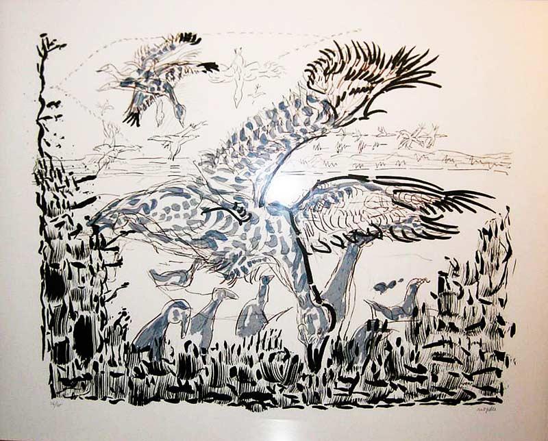 _ARCH_ Scout, 1981 by Jean Paul Riopelle, R.C.A. - Galerie Lamoureux Ritzenhoff