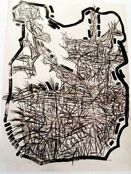 _ARCH_ Suite Fortin, 1972 by Jean Paul Riopelle, R.C.A. - Galerie Lamoureux Ritzenhoff