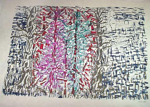 _ARCH_ Paillettes ou Sur la Berge by Jean Paul Riopelle, R.C.A. - Galerie Lamoureux Ritzenhoff