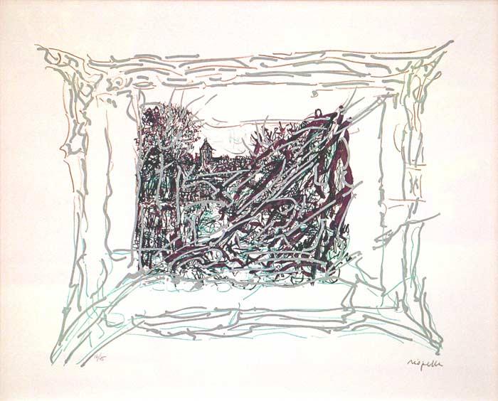 _ARCH_ Vu de l'Île by Jean Paul Riopelle, R.C.A. - Galerie Lamoureux Ritzenhoff