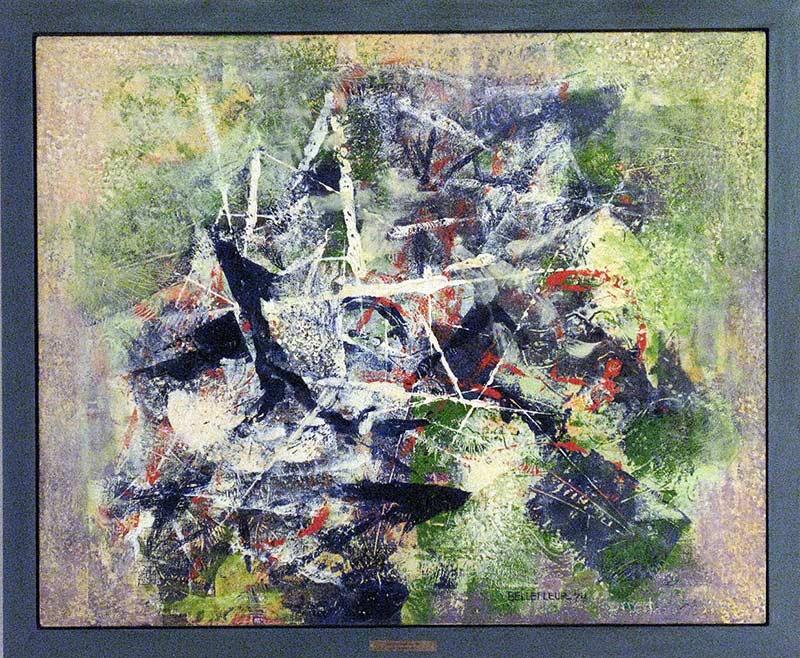_ARCH_ Le Coin des araignées, 1974 by Léon Bellefleur, (A.R.C.A/R.C.A) - Galerie Lamoureux Ritzenhoff