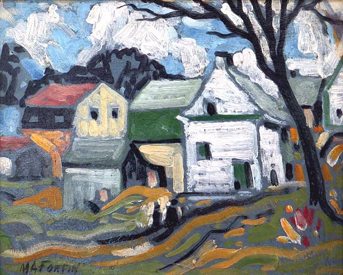 _ARCH_ « Houses in Ste-Rose » by Marc-Aur�le Fortin, R.C.A. - Galerie Lamoureux Ritzenhoff