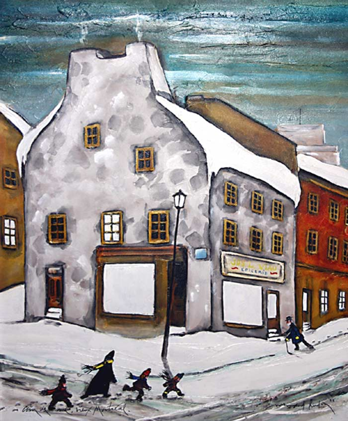 _ARCH_ Street Corner Old Montreal by Normand Hudon - Galerie Lamoureux Ritzenhoff