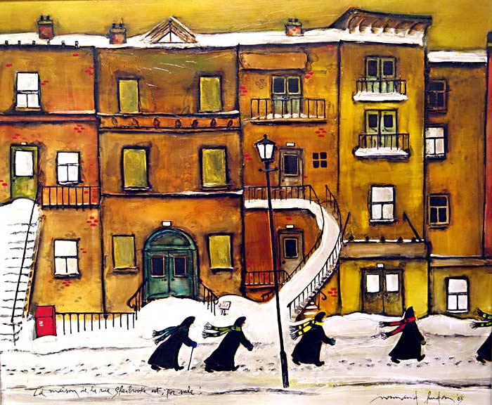 _ARCH_ La Maison de la rue Sherbrooke est; for sale! by Normand Hudon - Galerie Lamoureux Ritzenhoff