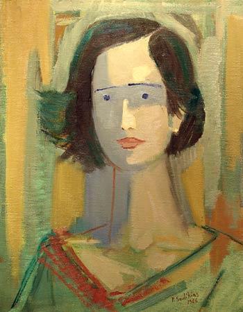 _ARCH_ Young Woman's Portrait by Paul Soulikias - Galerie Lamoureux Ritzenhoff