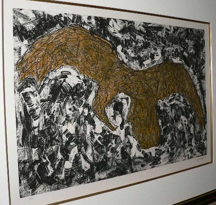 _ARCH_ Grand Aigle, 1968 by Jean Paul Riopelle, R.C.A. - Galerie Lamoureux Ritzenhoff