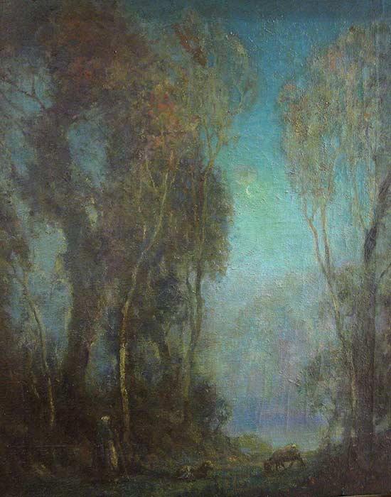 _ARCH_ Evening Forest Scene by Adam Sherriff Scott - Galerie Lamoureux Ritzenhoff