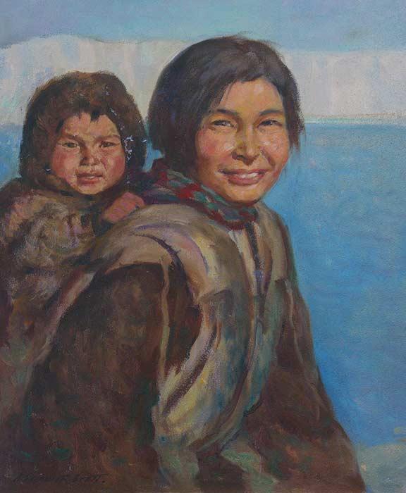 _ARCH_ Eskimo Mother and Child by Adam Sherriff Scott - Galerie Lamoureux Ritzenhoff